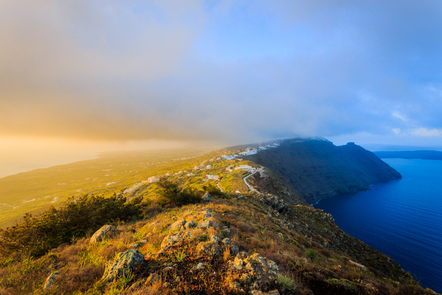 Santorini sunrise colours by Rick McEvoy Photography