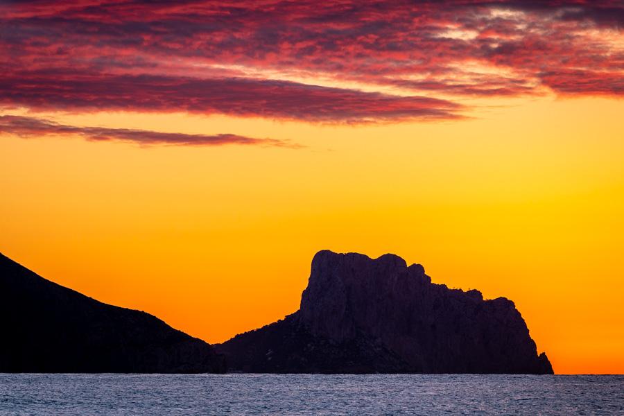 Stunning sunrise colours in Altea, Spain