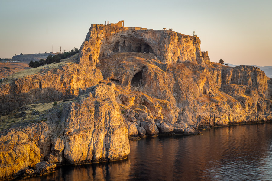 The Acropolis of Rhodes at sunrise by Rick McEvoy Photography