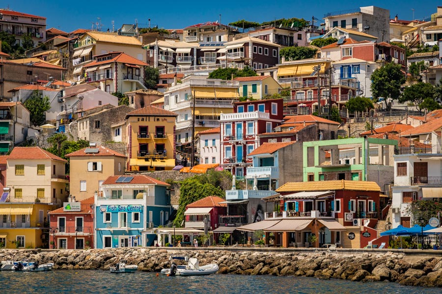 The buildings of Parga, Greece