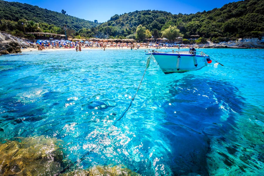 The crystal clear waters of Antipaxos by Rick McEvoy Travel Photographer