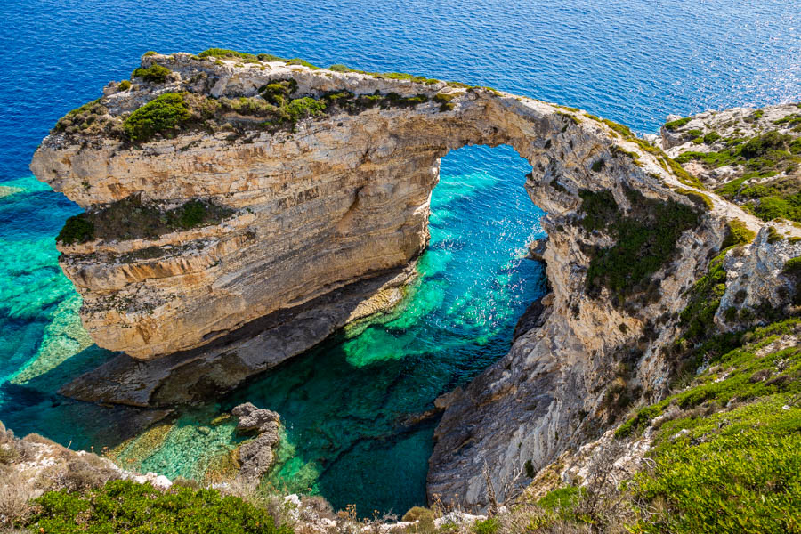 Tripitos Arch on the Greek Island of Paxos