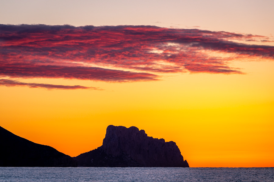 Stunning sunrise colours in Altea, Spain
