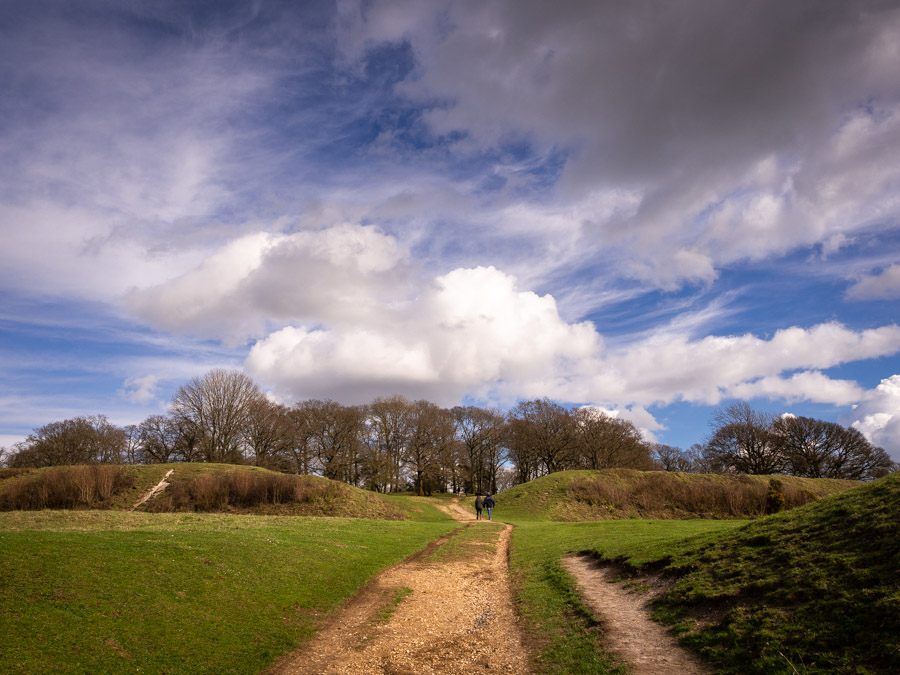 Badbury Rings in Dorset. An ancient site looked after by the Nat