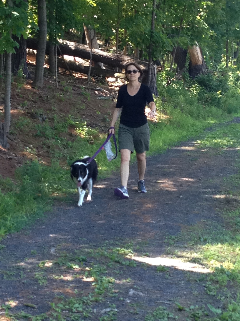 Lynn with Maisey, our 10 year old Border Collie mix.