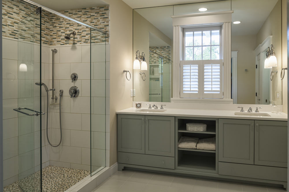 Prior to DIGS completing a substantial addition to this Hyde Park home, the couple that now enjoys this spa-like master bath once shared a small bath with their two boys…way to step it up