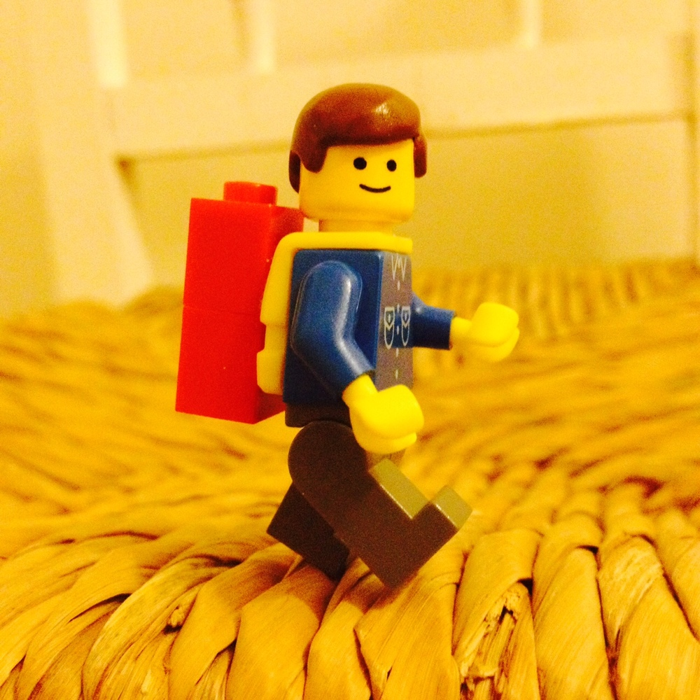 "My sons version of Emmet from the Lego Movie - piece of resistance and everything....  All together now ""Everything is awesome, everything is awesome, everything is awesome - when you're part of a team!"" :-D"