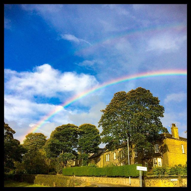 I could deny, but I never realised, I'm just chasing rainbows, all the time!  Listening to #shedseven on the radio #flashback #misspentyouth #theresalwaysbluesky #bringontheday #letsdothis #yorkshire #rainbow
