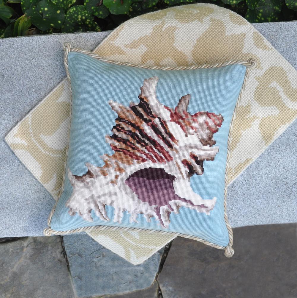 Shells Spiky Conch On Duck Egg Blue Elizabeth Bradley Home
