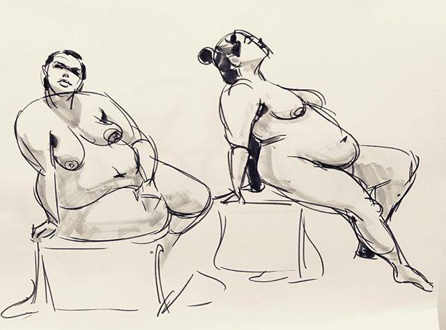 More of the Premise Entertainment life figure drawing session last week with model Keira. Faber Castell gray Pitt pen and Copic gray markers on 28lb. cardstock. These poses are 2-5 minutes.