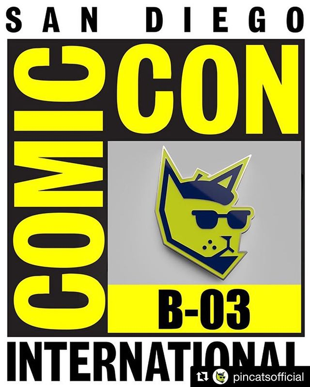 Come find me at the San Diego Comic-Con with PinCats next week and snag some swag!  Repost @pincatsofficial with @get_repost ・・・ BIG ANNOUNCEMENT! PinCats will be exhibiting at San Diego Comic-Con International from July 18 Preview Night until the 22nd! Come find us at exhibitor table B-03 and grab some exclusive stickers, pins, and offer all available for the first time at Comic-con! We can't wait to meet you!