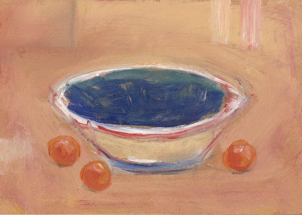 Stratford bowl and oranges