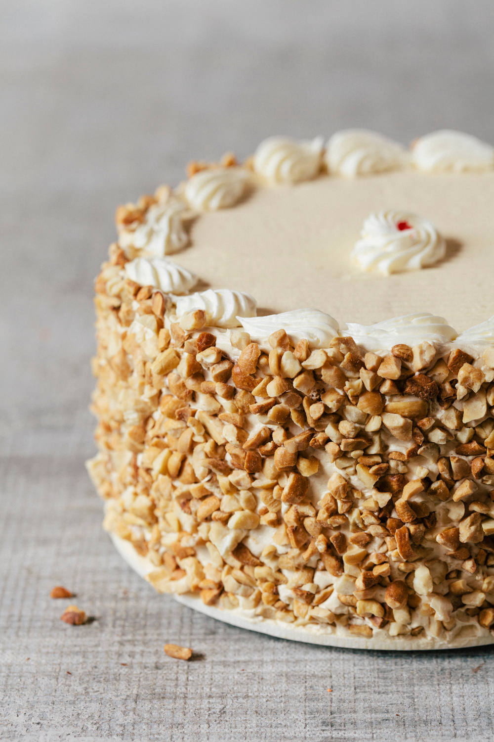 Three Layer Praline Pecan Cake