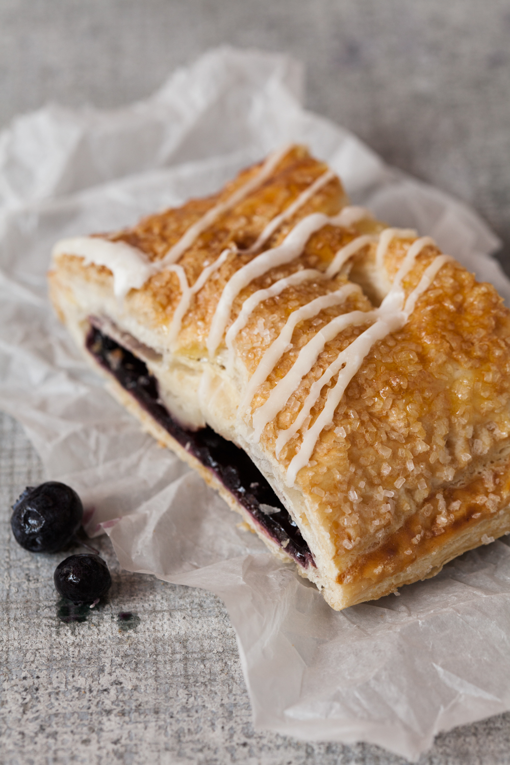 Blueberry Cheese Strudel