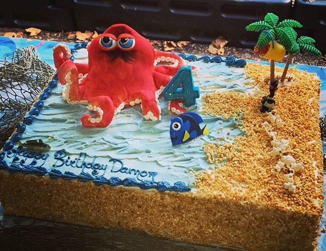 Beach/sea themed birthday cake