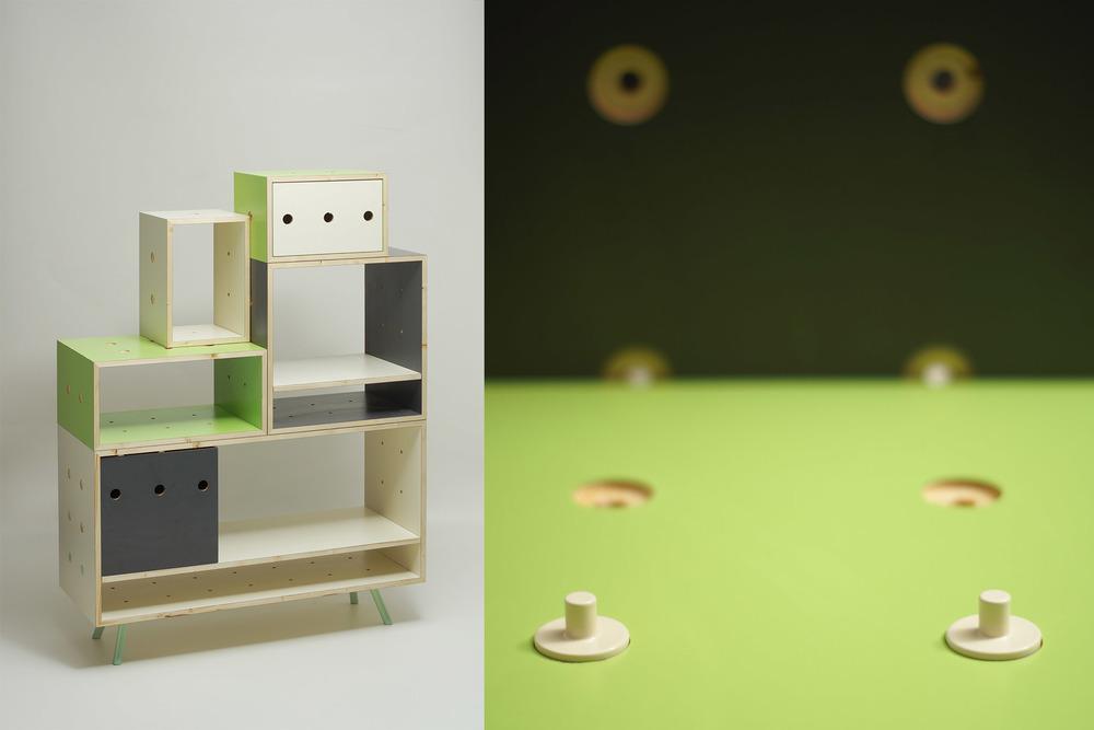 Modular storage unit by Rita Anna Ördögh