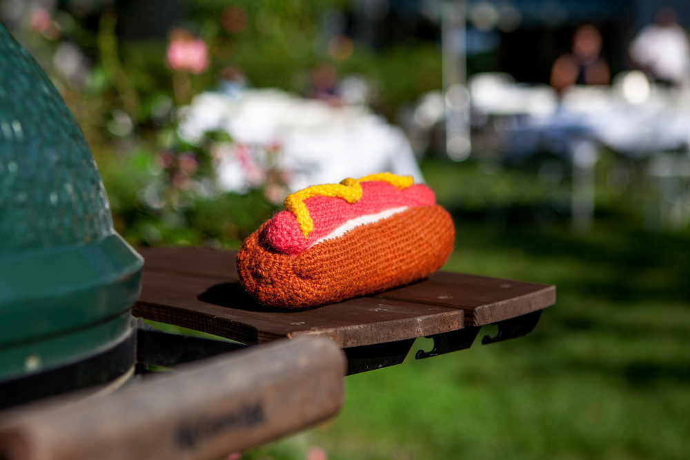 WARE of the DOG | Hand Knit Hot Dog