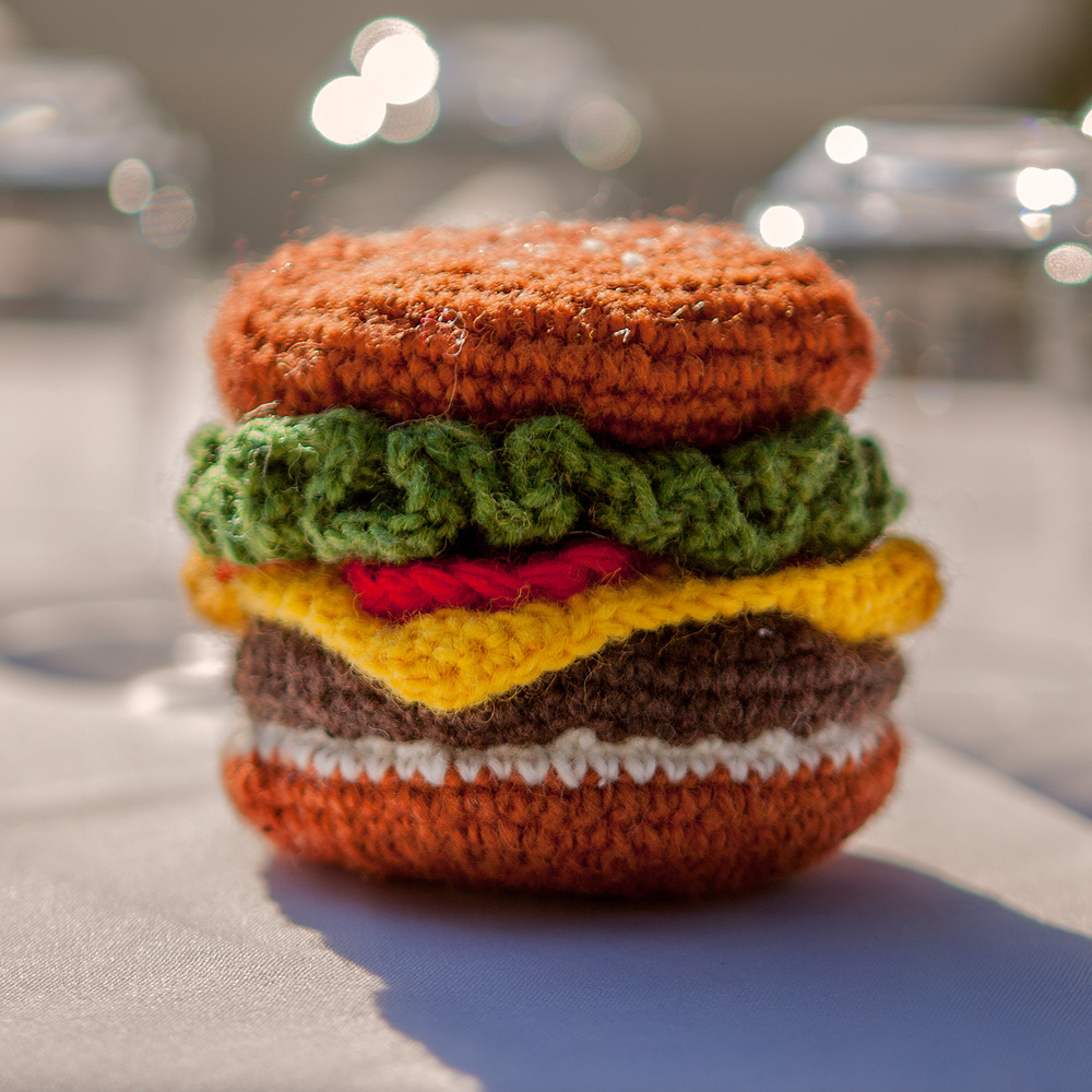 WARE of the DOG | Hand Knit Hamburger