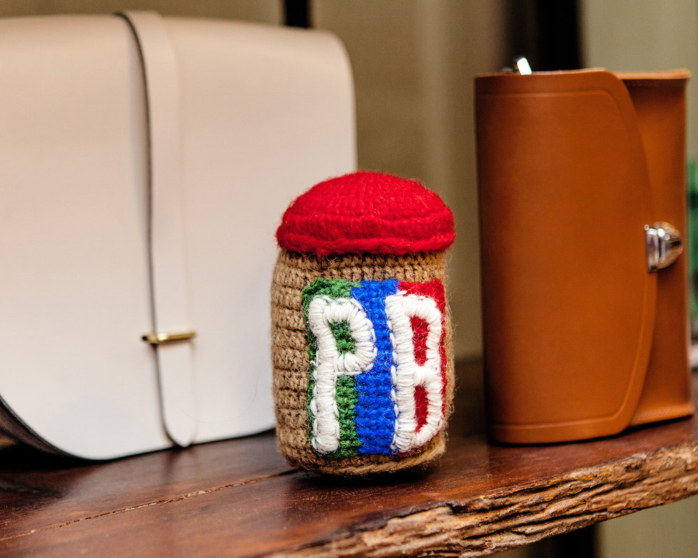 WARE of the DOG | Hand Knit PB Jar Toy