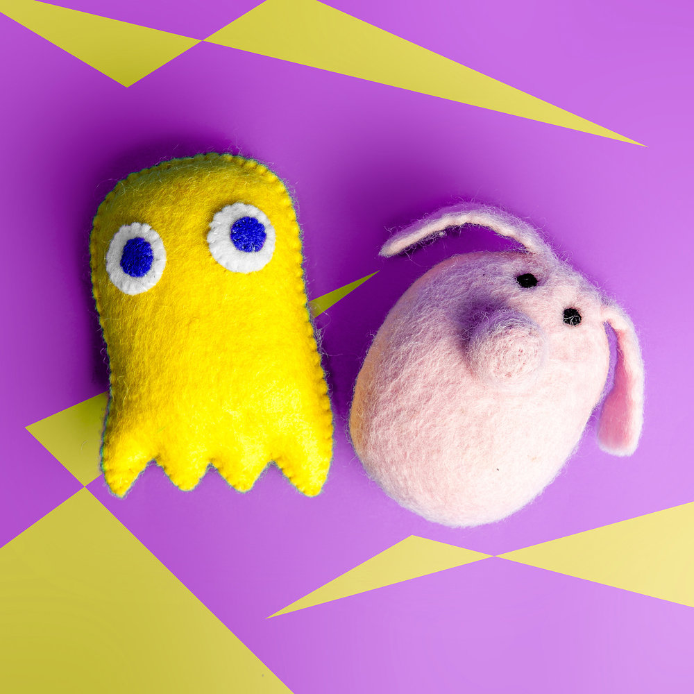 WARE OF THE DOG | Pak-Man + Piggy Wool Toys