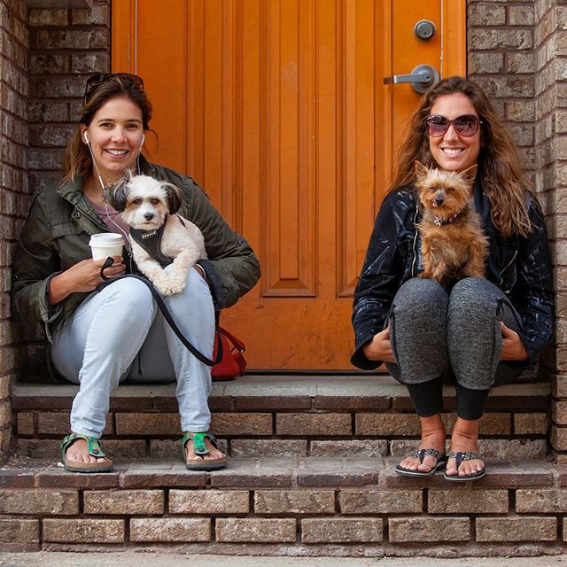"""Nicole + Willie & Aracelis + Chula """"Chula is 11, Willie is only 2 - Chula runs the show!"""" #humanandhound"""