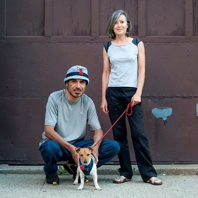 """Miguel & Melanie + Compadre """"We're all compardes!"""" #humanandhound"""