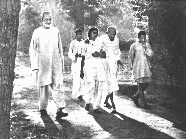 Gandhi Walking