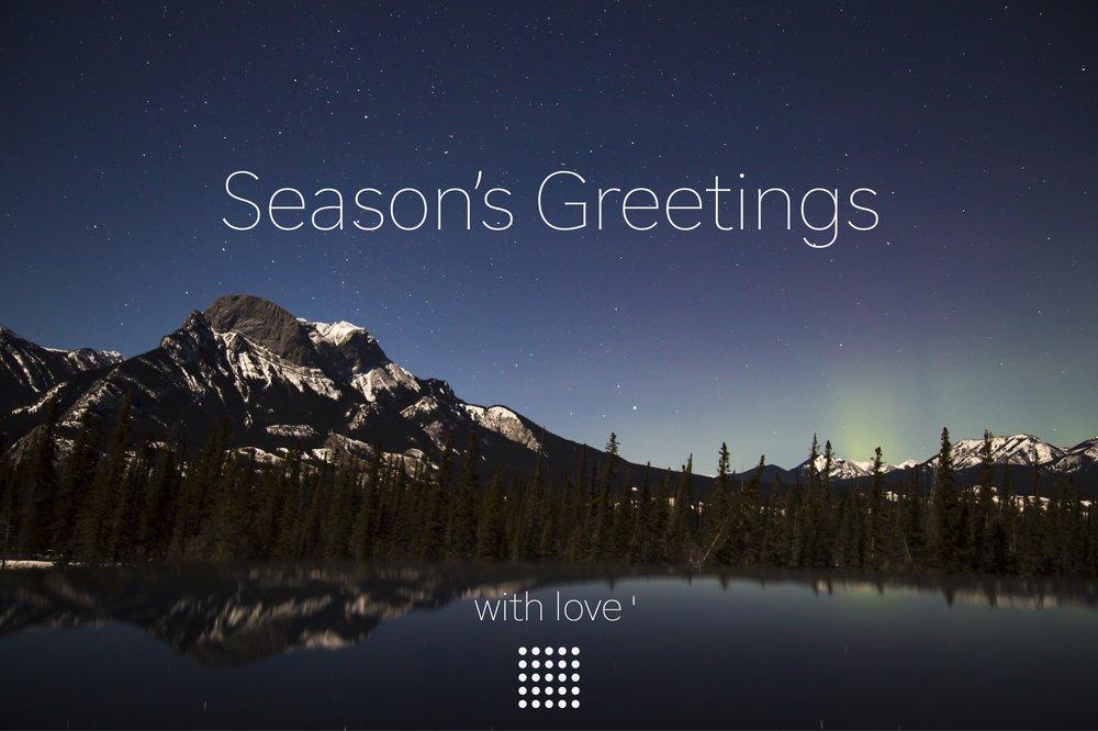 season's greetings from elegance