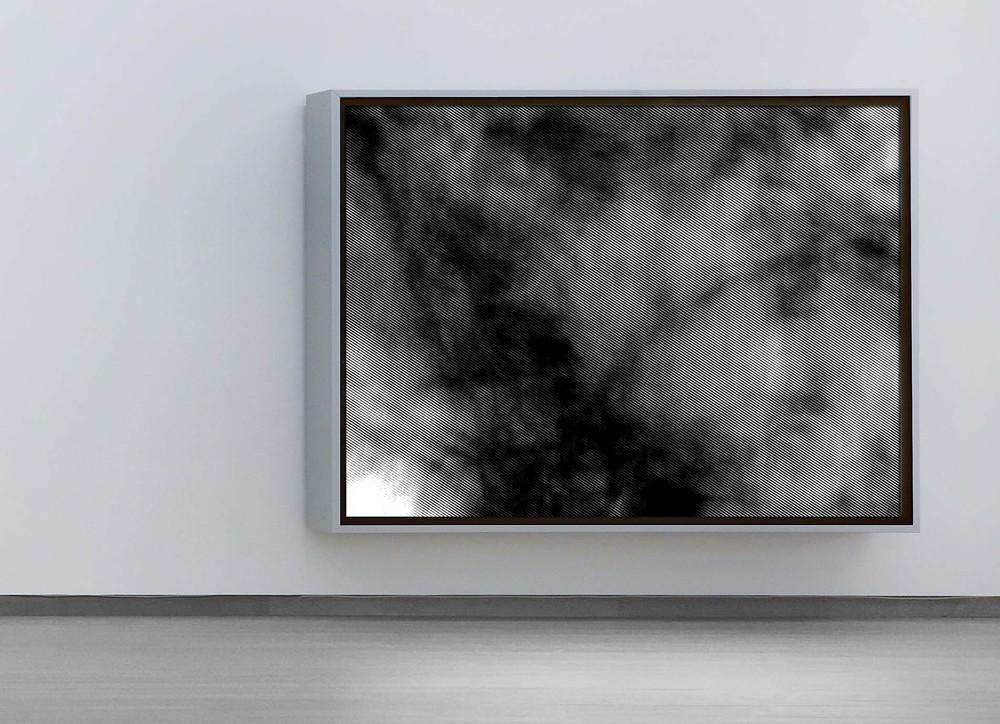Shadow play - London - 2013 - Screen print on fabric - 160 x 120 cm