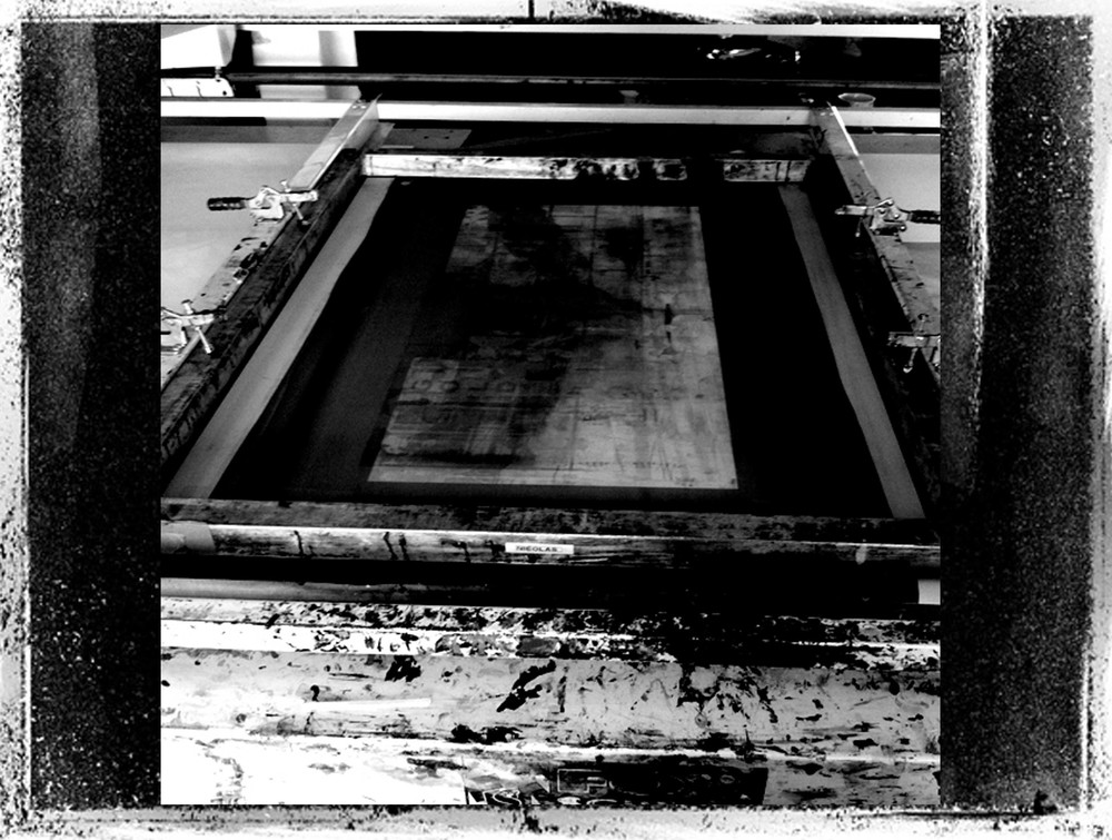 Studio London - 2011 - Screen print process