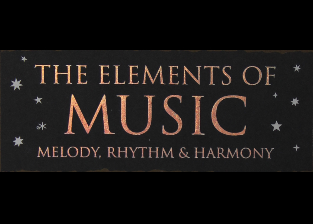 Excerpt from 'The elements of music', Jason Martineau