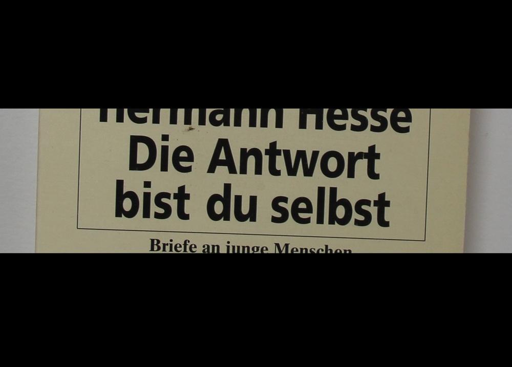 Excerpt from 'Die Antwort bist du selbst', Hermann Hesse
