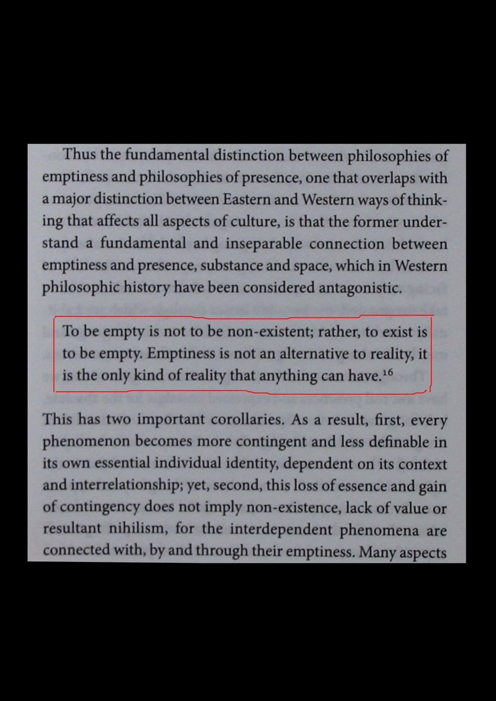 Excerpt from 'A Philosophy of Emptiness', Gay Watson