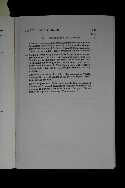 Excerpt from 'Vie des formes', Henri Focillon
