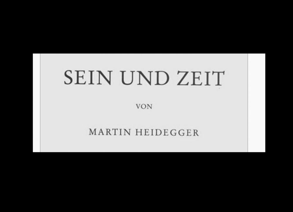 Excerpt from 'Sein und Zeit', Martin Heidegger