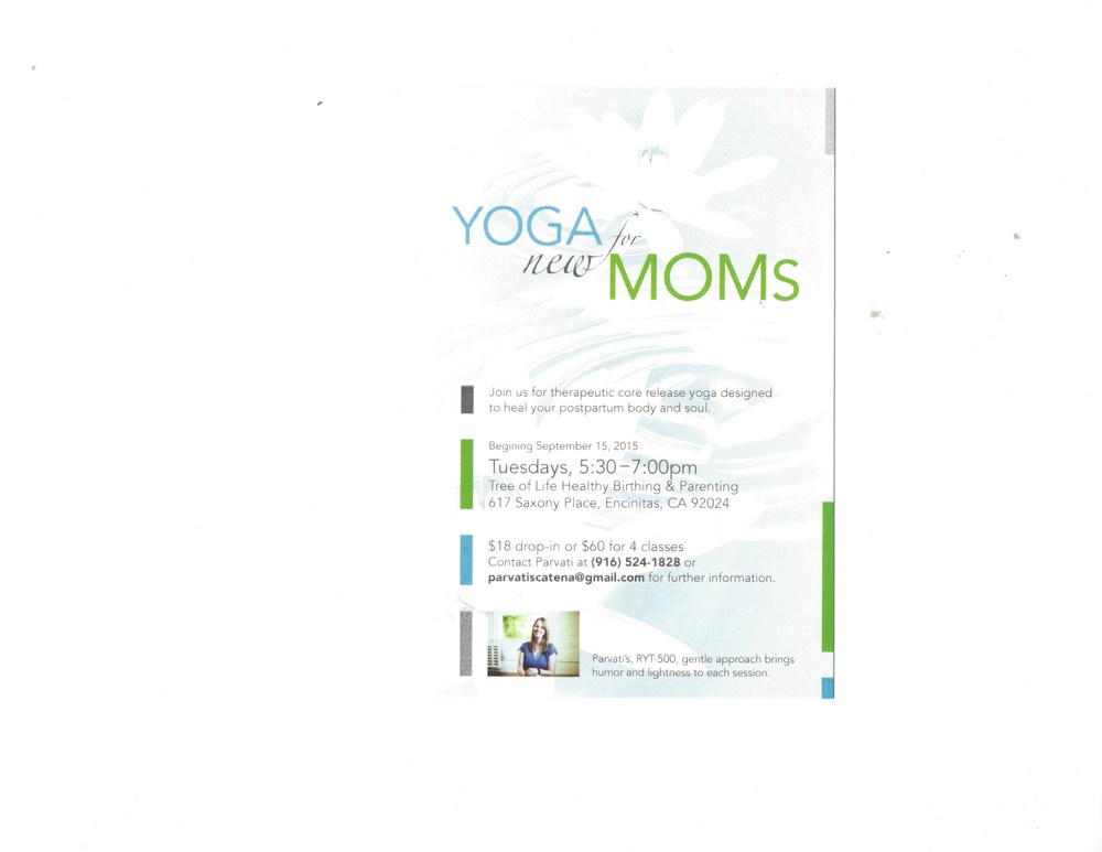 This series of classes will help new moms  as  they  transition into motherhood . Each class begins and ends with a supported  shavasna  and will focus on releasing the tensions at the core of the body starting at the base of the spine and working upwards.  Every pose is fully supported and individualized for each client. This is why my classes are small. There will be a special focus on the pelvic floor as well as providing a time and space to soothe the mind and soul of a new mom.