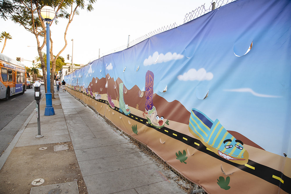 YoMeryl Mural on Santa Monica Blvd