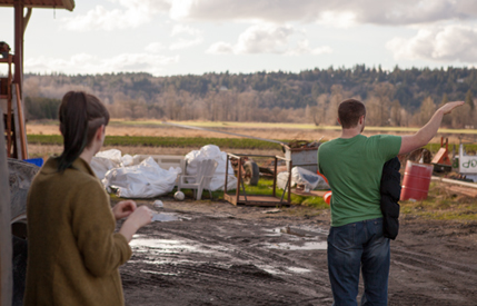 Deciding where to film on a commercial farm