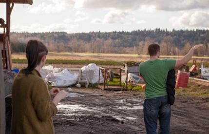 Deciding where to film on a commercial farm