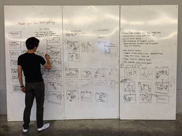Storyboarding on the whiteboard