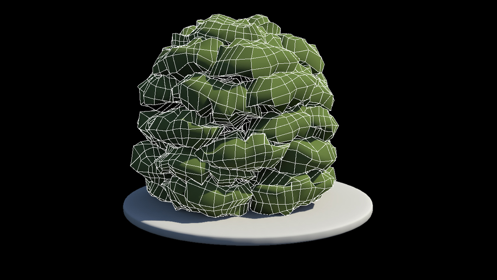 Bush Wireframe