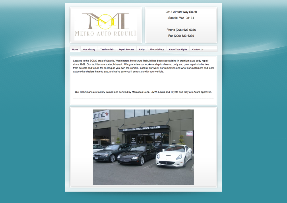 The old Metro Auto Rebuild website