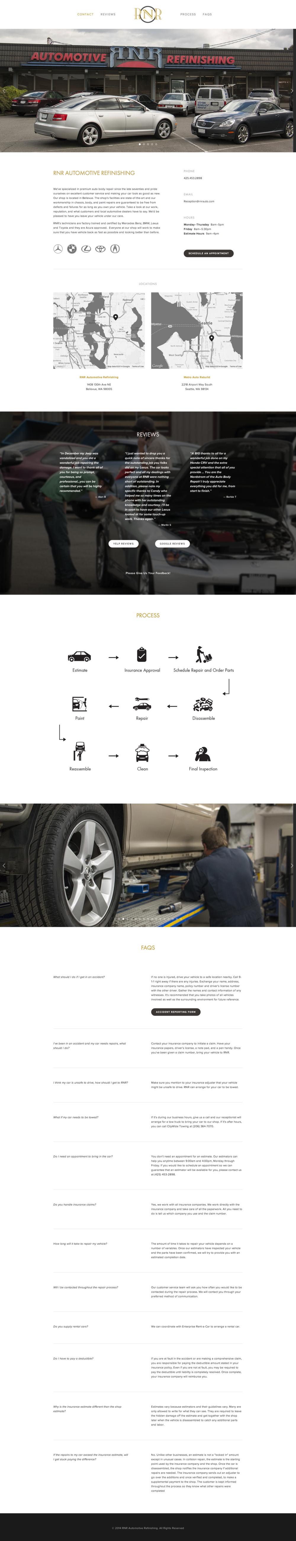 The new RNR Automotive Refinishing website