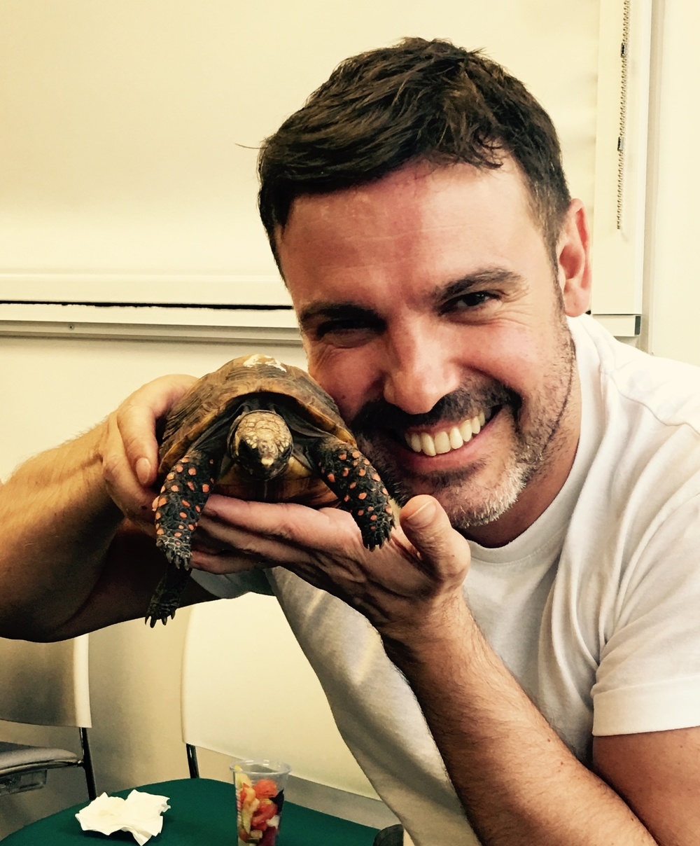 Barry with Olly the Tortoise