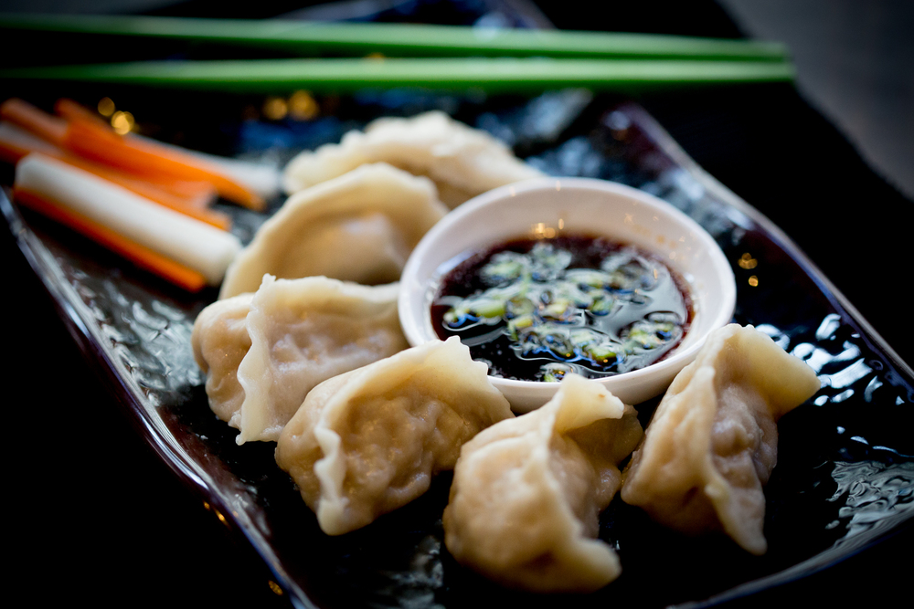 Steamed Dumplings in 12 different varieties, best when paired with a cold beer.
