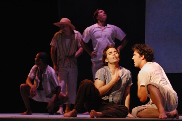 Javier Abreu as Pepe and Wes Mason as Reinaldo with Fort Worth Opera