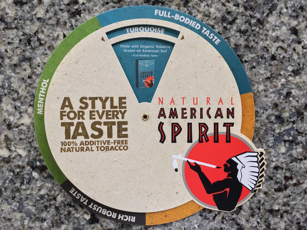 Birch Wood American Spirit Taste Wheel