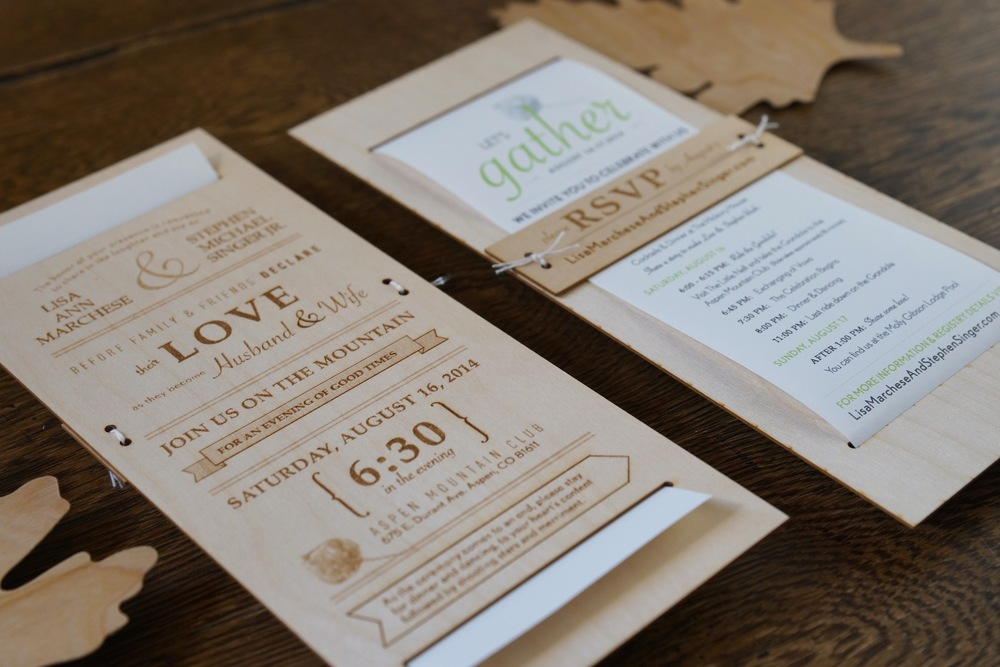 Birch Wood Wedding Invitation