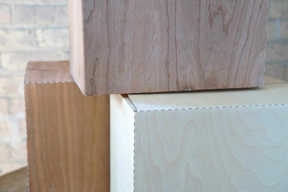 Cherry and Birch Wood Laminated Corrugate Boxes