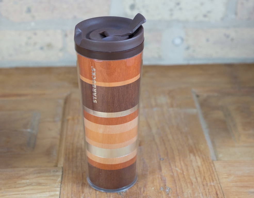 Cherry Wood Starbucks Commuter Mug